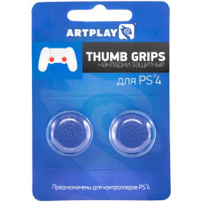 Защитные накладки Thumb Grips на стики геймпада DualShock 4 для PS4 (2 шт, глубокий синий)