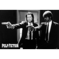 Постер Pulp Fiction - B&W Guns (61x91.5 см)
