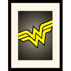 Принт в рамке DC Comics - Wonder Woman Symbol (30x40 см)