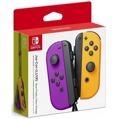 Набор контроллеров Nintendo Joy-Con (неоновый фиолетовый/неоновый оранжевый)