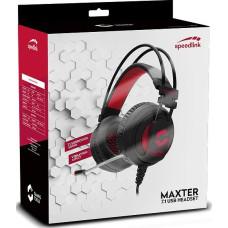 Гарнитура игровая проводная Speedlink Maxter 7.1 Surround USB для PC