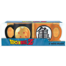 Набор кружек Dragon Ball Z (4 stars dragon ball or the different emblems of Goku's outfit)