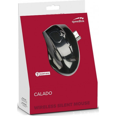 Мышь бесшумная беспроводная Calado (SL-6343-RRBK)