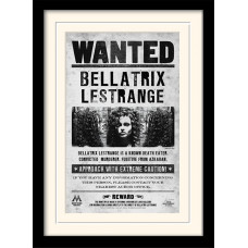 Принт в рамке Harry Potter - Bellatrix Wanted (30x40 см)