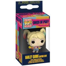 Брелок Birds of Prey - Pocket POP! - Harley Quinn (Caution Tape) (4 см)