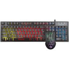Игровой набор Marvo USB 2 в 1: клавиатура и мышь с подсветкой для PC (3-mixed/7 Colors Backlight)
