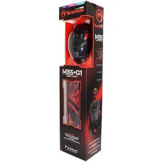 Игровой набор Marvo USB 2 в 1: мышь с подсветкой / коврик для мыши для PC