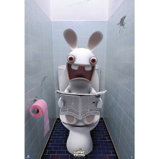 Постер Raving Rabbids - WC (98x68 см)