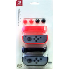 Набор накладок PDP Armor Guards для Joy-Con (red/black)