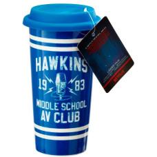 Стакан дорожный Stranger Things - Hawkins AV Club (470 мл)