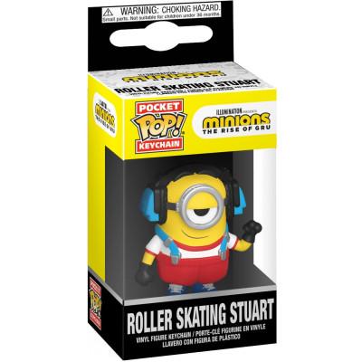Брелок Funko Minions 2: The Rise of Gru - Pocket POP! - Roller Skating Stuart 47797-PDQ (4 см)