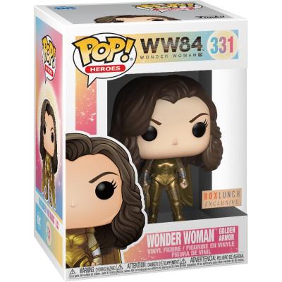 Фигурка Funko Wonder Woman 1984 - POP! Heroes - Wonder Woman Golden Armor (Metallic) (Exc) 46662 (9.5 см)