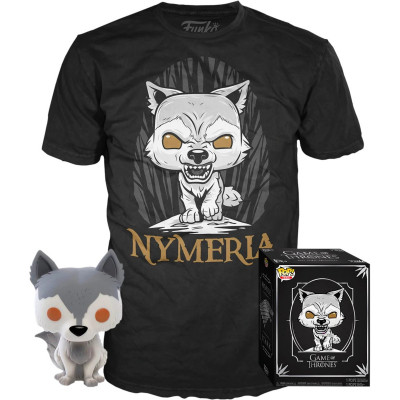 Набор Funko Game of Thrones - POP! Tees - Nymeria (фигурка / футболка)