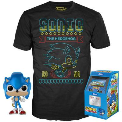 Набор Funko Sonic the Hedgehog - POP! Tees (фигурка / футболка)