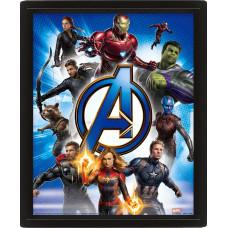 Линзовидный 3D постер Avengers: Endgame - Avengers Unite (20x25 см)