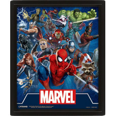 Линзовидный 3D постер Marvel Comics - Cinematic Icons (20x25 см)