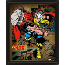 Линзовидный 3D постер Thor - Thor Hammer (20x25 см)