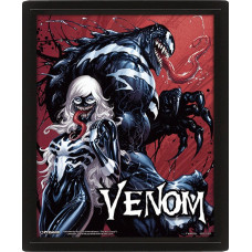Линзовидный 3D постер Venom - Teeth And Claws (20x25 см)