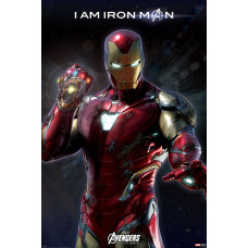 Постер Avengers: Endgame - I Am Iron Man (61x91.5 см)
