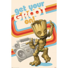 Постер Guardians Of The Galaxy - Get Your Groot On (61x91.5 см)