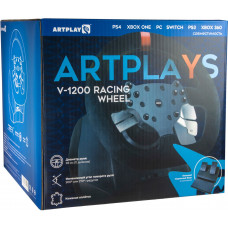 Руль гоночный Artplays V-1200 (Premium Leather Edition) для PS4 / PC / Xbox One / NS / PS3 / Xbox 360