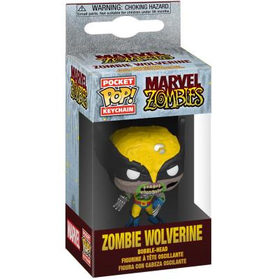 Брелок Funko Marvel Zombies - Pocket POP! - Zombie Wolverine 49133-PDQ (4 см)