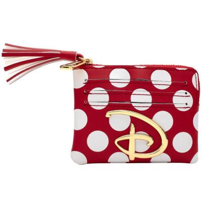 Сумочка Loungefly для монет Disney - Red & White Polka Dot Logo (AOP) WDWA1212