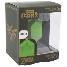 Светильник The Legend of Zelda - Icons - Green Rupee (3D Light)