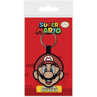 Брелок Pyramid Super Mario - Mario Face V2 WK39083 (6 см)