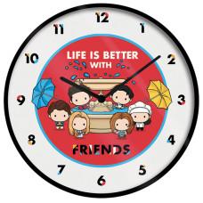 Часы настенные Friends - Life Is Better With Friends (Chibi)
