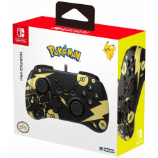Геймпад проводной HORI HORIPAD Mini для NS (Pikachu Black & Gold Edition)