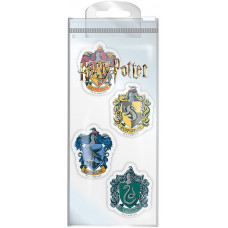 Набор ластиков Harry Potter - Houses Crest (4 шт)