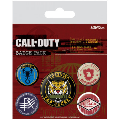 Набор значков Pyramid Call of Duty: Black Ops Cold War - Top Secret (5 шт) BP80705