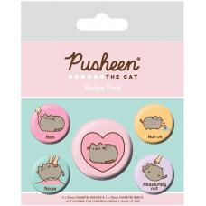 Набор значков Pusheen - Nah (5 шт)