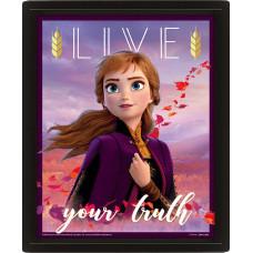 Линзовидный 3D постер Frozen 2 - Sisters (20x25 см)