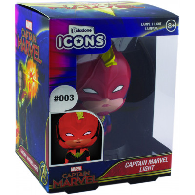 Светильник Paladone Captain Marvel - Icons - Captain Marvel (3D Character Light) PP6117CM