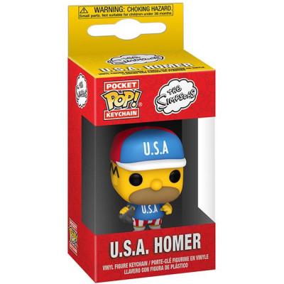 Брелок Funko Simpsons - Pocket POP! - U.S.A Homer 53761-PDQ (4 см)