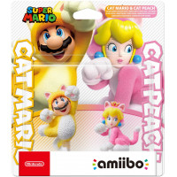 Набор интерактивных фигурок amiibo - Super Mario - Cat Mario & Cat Peach