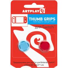 Сменные накладки Artplays Thumb Grips Pro для контроллера NS / NS Lite (красные/синие, 2 шт)