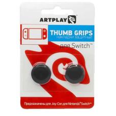 Сменные накладки Artplays Thumb Grips для контроллера NS (черные, 2 шт)