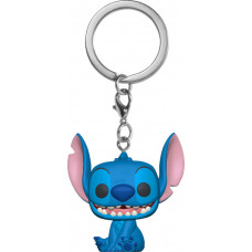 Брелок Lilo & Stitch - Pocket POP! - Smiling Stitch Seated (Flocked) (4 см)