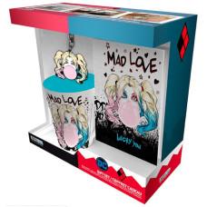Подарочный набор DC Comics- Harley Quinn Mad Love (записная книжка / брелок / кружка)