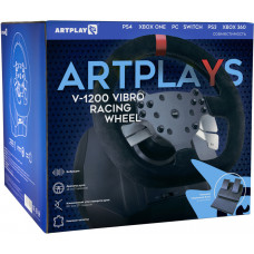 Руль гоночный Artplays V-1200 Vibro (Premium Leather Edition) для PS4 / PS3 / PC / Xbox One / Xbox 360 / NS