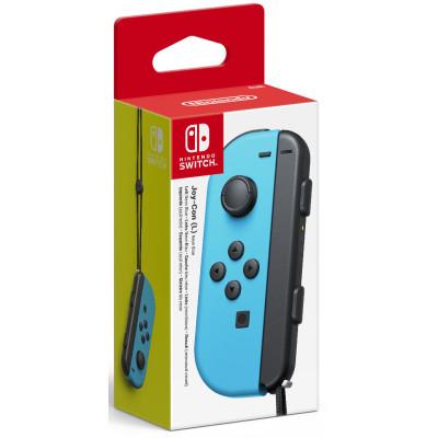 Контроллер Nintendo левый Joy-Con для NS (неоновый синий)