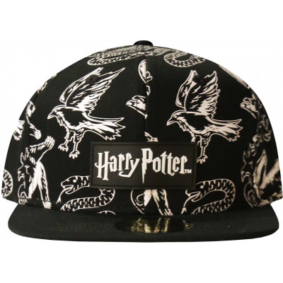 Бейсболка Difuzed Harry Potter - Wizards Unite (Black & White) (AOP) SB600477HPT