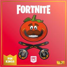 Набор значков Fortnite - Pin Kings - Tomatohead (2 шт)