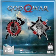 Набор значков God of War - Pin Kings - Kratos & Atreus (2 шт)