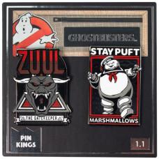 Набор значков Ghostbusters - Pin Kings - Zuul & Marshmellow Man (2 шт)