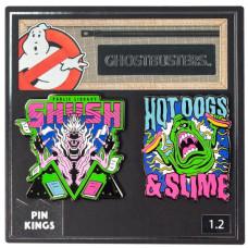 Набор значков Ghostbusters - Pin Kings - Shush with Hotdogs & Slime (2 шт)