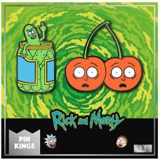 Набор значков Rick & Morty - Pin Kings - Pickle Rick & Cherry Morty (2 шт)